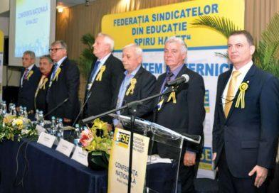 """Federația Sindicatelor din Edicație """"SPIRU HARET"""" și-a ales conducerea pentru următorii cinci ani"""